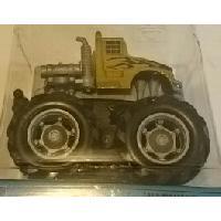 Monde Miniature 1 Mini Big Wheels Monster Truck - Mouvement par friction - Jaune - MID