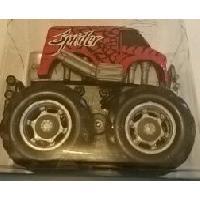 Monde Miniature 1 Mini Big Wheels Monster Truck - Mouvement par friction - Rouge - MID