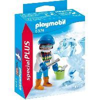 Monde Miniature 5374 Artiste avec sculpture de glace - Playmobil
