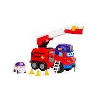 Monde Miniature Camion Pompier Super Wings Transformable Rescue Riders + 1 figurine Zoey