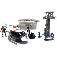 Monde Miniature Coffret Police Hélicoptere + Tour de contrôle