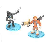 Monde Miniature FORTNITE Battle Royale - Pack Duo Figurines 5cm - Mission Specialist et Dark Voyager