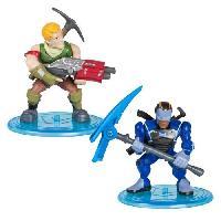 Monde Miniature FORTNITE Battle Royale - Pack Duo Figurines 5cm - Sergeant Jonesy & Carbide - Asmodee