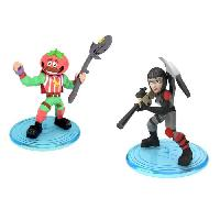 Monde Miniature FORTNITE Battle Royale - Pack Duo Figurines 5cm - Shadow Ops & Tomato Head