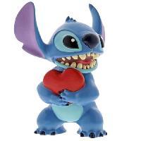 Monde Miniature Figurine - DISNEY TRADITION - STITCH HEART - Licence Officielle Lilo et Stitch - Enesco