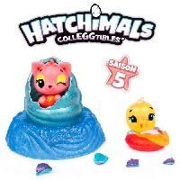 Monde Miniature HATCHIMALS a collectionner - Pack de 2 Hatchimals Saison 5 - Modele aléatoire - Aucune