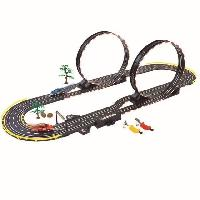 Monde Miniature PARALLEL LOOPING Circuit éléctrique Road racing set - Double looping