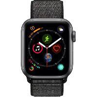 Montre Bluetooth - Montre Connectee AppleWatch Series4 GPS. 40mm Boitier en aluminium gris sideral avec Boucle Sport noir