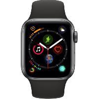 Montre Bluetooth - Montre Connectee AppleWatch Series4 GPS. 40mm Boitier en aluminium gris sideral avec Bracelet Sport noir