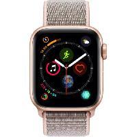 Montre Bluetooth - Montre Connectee AppleWatch Series4 GPS. 40mm Boitier en aluminium or avec Boucle Sport rose des sables