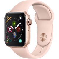 Montre Bluetooth - Montre Connectee AppleWatch Series4 GPS. 40mm Boitier en aluminium or avec Bracelet Sport rose des sables