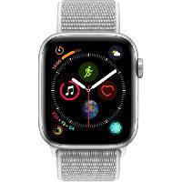 Montre Bluetooth - Montre Connectee AppleWatch Series4 GPS. 44mm Boitier en aluminium argent avec Boucle Sport coquillage