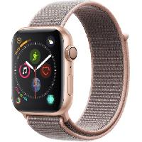 Montre Bluetooth - Montre Connectee AppleWatch Series4 GPS. 44mm Boitier en aluminium or avec Boucle Sport rose des sables