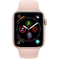 Montre Bluetooth - Montre Connectee AppleWatch Series4 GPS. 44mm Boitier en aluminium or avec Bracelet Sport rose des sables