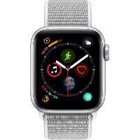 Montre Bluetooth - Montre Connectee AppleWatch Series4 GPS+Cellular. 40mm. Boitier en aluminium argent avec Boucle Sport coquillage