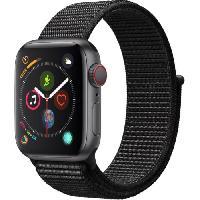 Montre Bluetooth - Montre Connectee AppleWatch Series4 GPS+Cellular. 40mm Boitier en aluminium gris sideral avec Boucle Sport noir