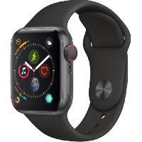 Montre Bluetooth - Montre Connectee AppleWatch Series4 GPS+Cellular. 40mm. Boitier en aluminium gris sideral avec Bracelet Sport noir