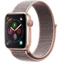Montre Bluetooth - Montre Connectee AppleWatch Series4 GPS+Cellular. 40mm Boitier en aluminium or avec Boucle Sport rose des sables
