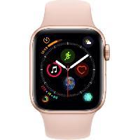 Montre Bluetooth - Montre Connectee AppleWatch Series4 GPS+Cellular. 40mm Boitier en aluminium or avec Bracelet Sport rose des sables