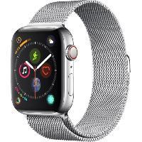 Montre Bluetooth - Montre Connectee AppleWatch Series4 GPS+Cellular. 44mm Boitier en acier inoxydable avec Bracelet Milanais