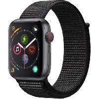 Montre Bluetooth - Montre Connectee AppleWatch Series4 GPS+Cellular. 44mm Boitier en aluminium gris sideral avec Boucle Sport noir