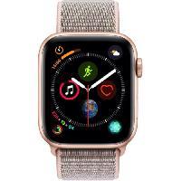 Montre Bluetooth - Montre Connectee AppleWatch Series4 GPS+Cellular. 44mm Boitier en aluminium or avec Boucle Sport rose des sables