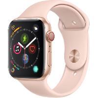 Montre Bluetooth - Montre Connectee AppleWatch Series4 GPS+Cellular. 44mm Boitier en aluminium or avec Bracelet Sport rose des sables