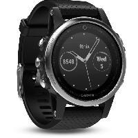 Montre Bluetooth - Montre Connectee GARMIN Fenix 5S Silver Montre GPS - Gris argente et noir