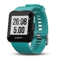 Montre Bluetooth - Montre Connectee GARMIN Forerunner 30 Montre GPS de course connectee avec cardio - Bleu turquoise