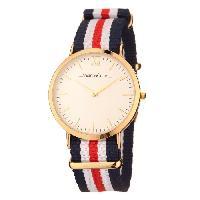 Montre Bracelet ANDREAS OSTEN.Montre Femme-AO-08- Mouvement a quartz.Doré et Blanc