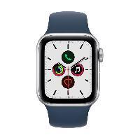 Montre Intelligente - Montre Connectee Apple Watch SE GPS 2021 - 40mm - Boitier Silver Aluminium - Bracelet Sport Abyss Blue