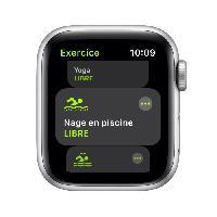 Montre Intelligente - Montre Connectee Apple Watch SE GPS 2021 - 44mm - Boitier Silver Aluminium - Bracelet Sport Abyss Blue