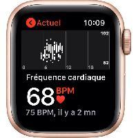 Montre Intelligente - Montre Connectee Apple Watch SE GPS + Cellular. 40mm - Boitier en aluminium or avec Bracelet sport prune