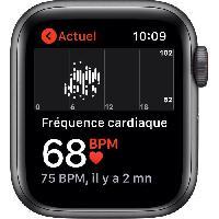 Montre Intelligente - Montre Connectee Apple Watch SE GPS + Cellular. 40mm Boitier en Aluminium Gris Sideral avec Bracelet Sport Charbon