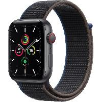 Montre Intelligente - Montre Connectee Apple Watch SE GPS + Cellular. 44mm Boitier en Aluminium Gris Sideral avec Bracelet Sport Charbon