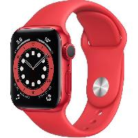 Montre Intelligente - Montre Connectee Apple Watch Series 6 GPS. 40mm Boitier en Aluminium PRODUCT-RED- avec Bracelet Sport PRODUCT-RED-