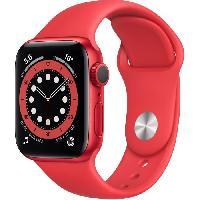 Montre Intelligente - Montre Connectee Apple Watch Series 6 GPS. 40mm Boîtier en Aluminium PRODUCT(RED) avec Bracelet Sport PRODUCT(RED)