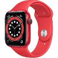 Montre Intelligente - Montre Connectee Apple Watch Series 6 GPS. 44mm Boitier en Aluminium PRODUCT-RED- avec Bracelet Sport PRODUCT-RED-