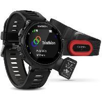 Montre Intelligente - Montre Connectee GARMIN Montre GPS Forerunner 735XT Run Bundle - Noir et gris