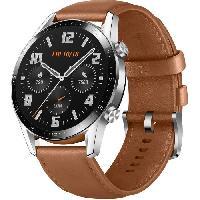 Montre Intelligente - Montre Connectee HUAWEI Watch GT 2 46mm Classique marron