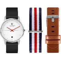 Montre Intelligente - Montre Connectee NoeRDEN Montre connectée Life - Bracelets interchangeables : silicone noir / cuir marron / nato bleu. blanc. rouge Aucune