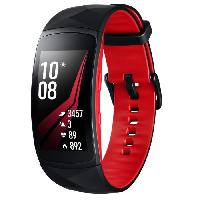 Montre Intelligente - Montre Connectee Samsung Gear Fit 2 Pro Large Rouge