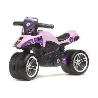 Moto - Scooter FALK Porteur Moto Racing Team - Rose et violet