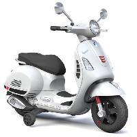 Moto - Scooter VESPA Scooter electrique 12V enfant - Blanc - E-road