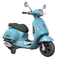 Moto - Scooter VESPA Scooter electrique 12V enfant - Bleu - E-road