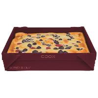 Moule A Gateau - Patisserie COOX Moule en silicone a gâteaux/ cakes / glaces - 1 L - Rouge - Generique