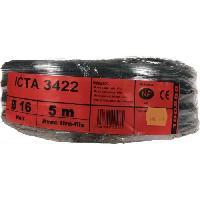 Moulure - Goulotte - Cache Fil - Plinthe - Gaine Range-fil - Clips JANOPLAST Gaine ICTA avec tire fil 5 m - Diametre 16 mm
