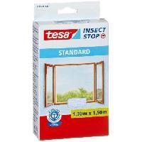 Moustiquaire De Fenetre - De Porte TESA Moustiquaire Standard pour fenetre - 1.3 m x 1.5 mm - Blanc