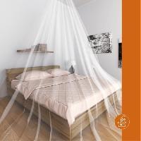 Moustiquaire De Lit Moustiquaire ciel de lit Single - Blanc
