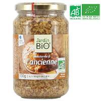 Moutarde JARDIN BIO Moutarde a l'ancienne au vinaigre de cidre bio - 350g
